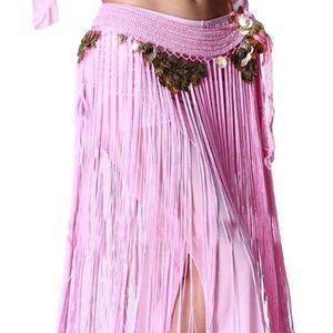 💃 Beautiful Egyptian Long Tassel Belt Hip Scarf